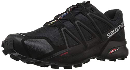 SALOMON Speedcross 4, Zapatillas de Trail Running Hombre, Negro (Black/Black/Black Metallic), 42 EU