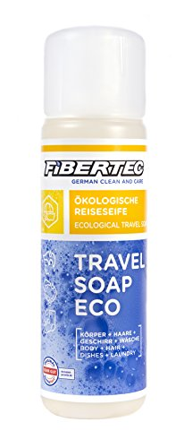 Fibertec Travel Soap Eco - Jabón de arroz (250 ml), transparente