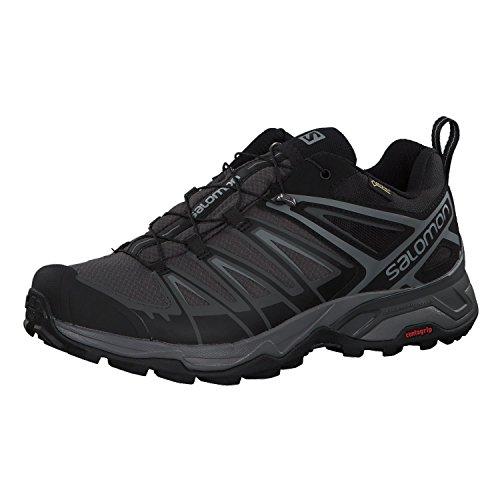 Salomon X Ultra 3 GTX, Zapatillas de Senderismo Hombre, Negro (Black/Magnet/Quiet Shade), 44 2/3 EU