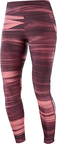 Salomon AGILE LONG TIGHT W Mallas para running, Granate (Winetasting), Talla S para Mujer