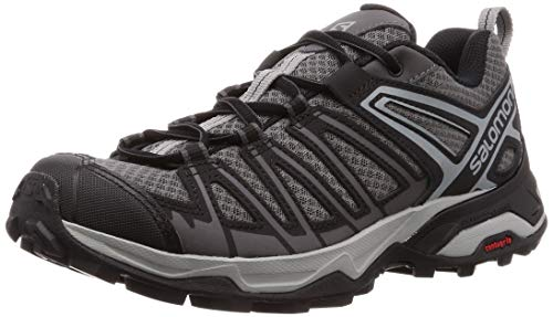 Salomon X Ultra 3 Prime, Zapatillas de Senderismo para Hombre, Gris/Negro (Magnet/Black/Monument), 40 EU