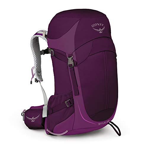 Osprey Sirrus 26, mochila de senderismo con ventilación para mujer - Ruska Purple (O/S)