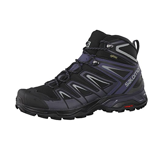SALOMON X Ultra 3 Mid GTX, Botas de Senderismo Hombre, Negro (Black/India Ink/Monument), 43 EU