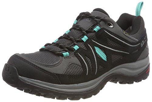 Salomon Ellipse 2 GTX W, Zapatillas de Trail Running para Mujer, Gris/Turquesa (Magnet/Black/Atlantis), 39 1/3 EU