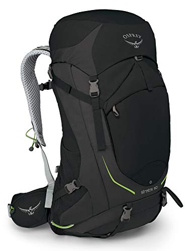 Osprey Stratos 50 Men's Ventilated Hiking Pack - Black (S/M)