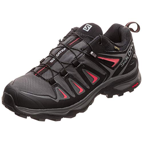 Salomon X Ultra 3 GTX W, Zapatillas de Senderismo Mujer, Multicolor (Magnet/Black/Mineral Red 000), 40 EU