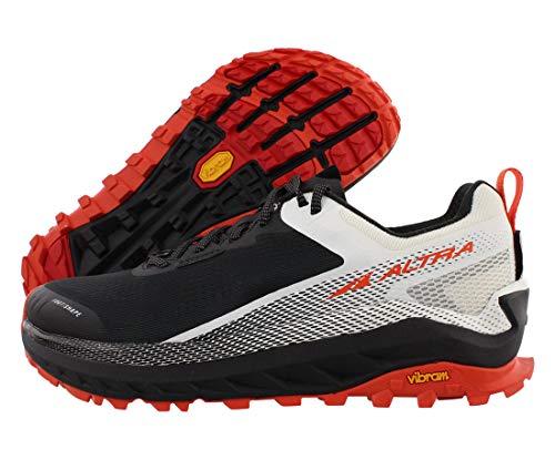 ALTRA Men's AL0A4VQM Olympus 4 Trail Running Shoe, Black/White - 7 M US