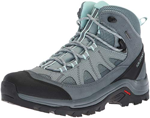 Salomon Authentic LTR GTX W, Zapatillas de Excursionismo para Mujer, Azul/Gris (Lead/Stormy Weather/Eggshell Blue), 36 EU