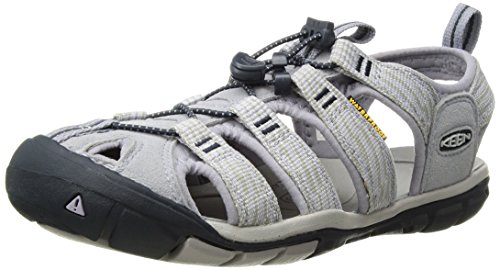 Keen Clearwater CNX, Sandalias de Senderismo para Mujer, Gris (Dapple Grey/Dress Blue Dapple Grey/Dress Blue), 36 EU