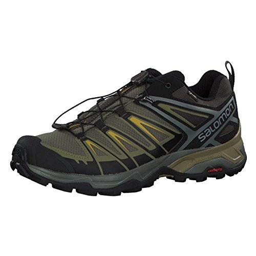 SALOMON X Ultra 3 GTX, Zapatillas de Senderismo para Hombre, Gris Turquesa, 41 1/3 EU