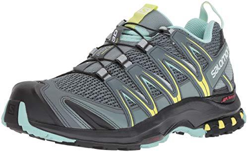Salomon XA Pro 3D W Zapatillas de trail running Mujer, Multicolor (Stormy Weather/Lead/Eggshell Blue), 36 EU (3.5 UK)