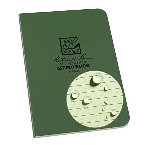 Rite in the Rain All-Weather Cuaderno de bolsillo, Resistente a la intemperie, Verde, 8,9 x 12,7 cm (3,5 x 5 pulgadas)