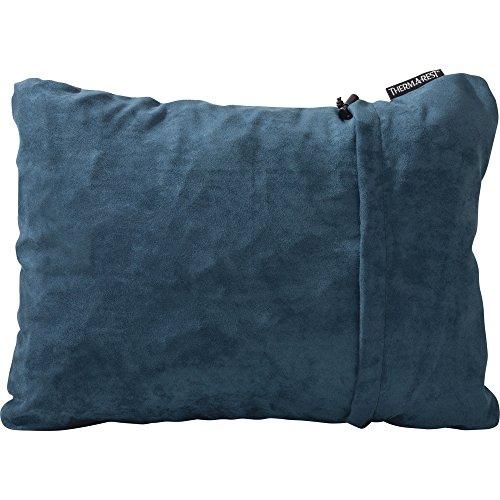 Therm-a-Rest Compressible - Almohada de Acampada, tamaño L, Color Tela Vaquera