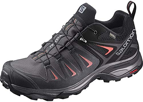 Salomon X Ultra 3 GTX W, Zapatillas de Senderismo para Mujer, Multicolor (Magnet/Black/Mineral Red 000), 40 EU