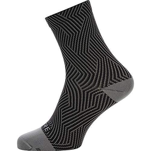 GORE WEAR C3 Calcetines para ciclismo unisex, Talla: 44-46, Color: gris/negro