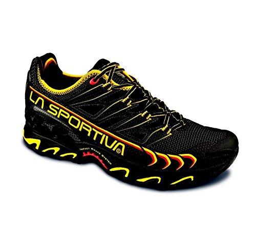 La Sportiva Ultra Raptor, Zapatillas de Running para Hombre, Negro/Amarillo, 41.5 EU