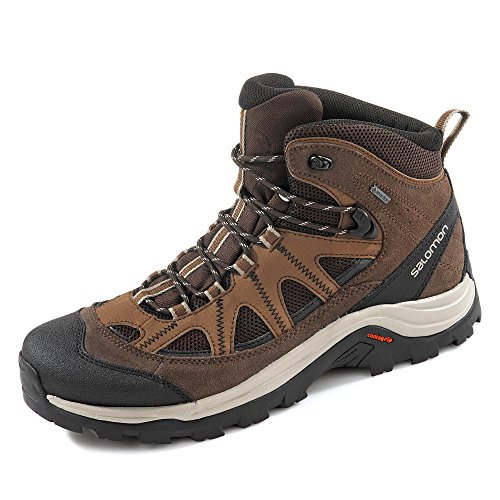 Salomon Authentic LTR GTX, Zapatillas de Senderismo para Hombre, Marrón/Negro (Black Coffee/Chocolate Brown/Vintage Kaki), 44 EU