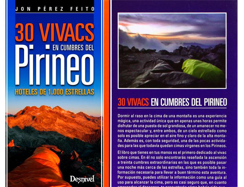 Libro 30 vivacs en cumbres del Pirineo